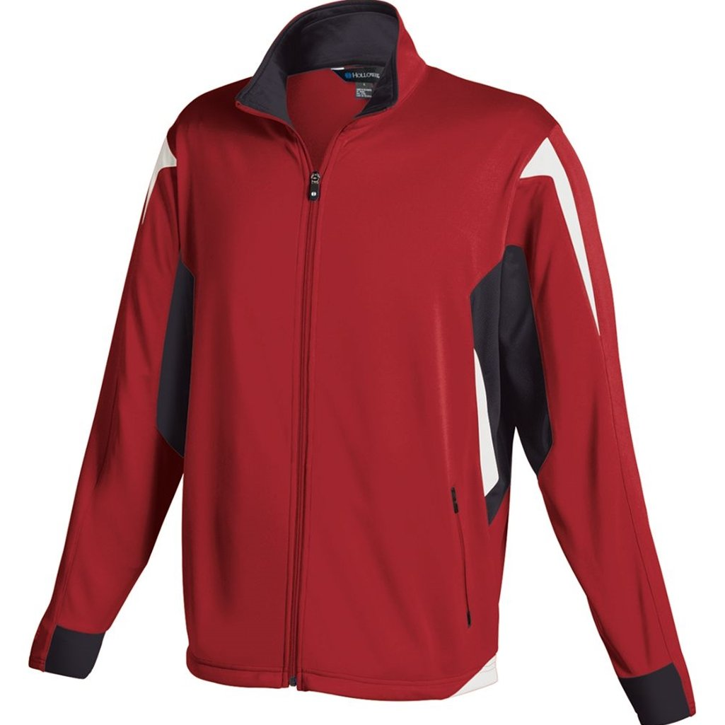 Holloway Youth Dedication Jacket (Small, Scarlet/Black/White) by Holloway