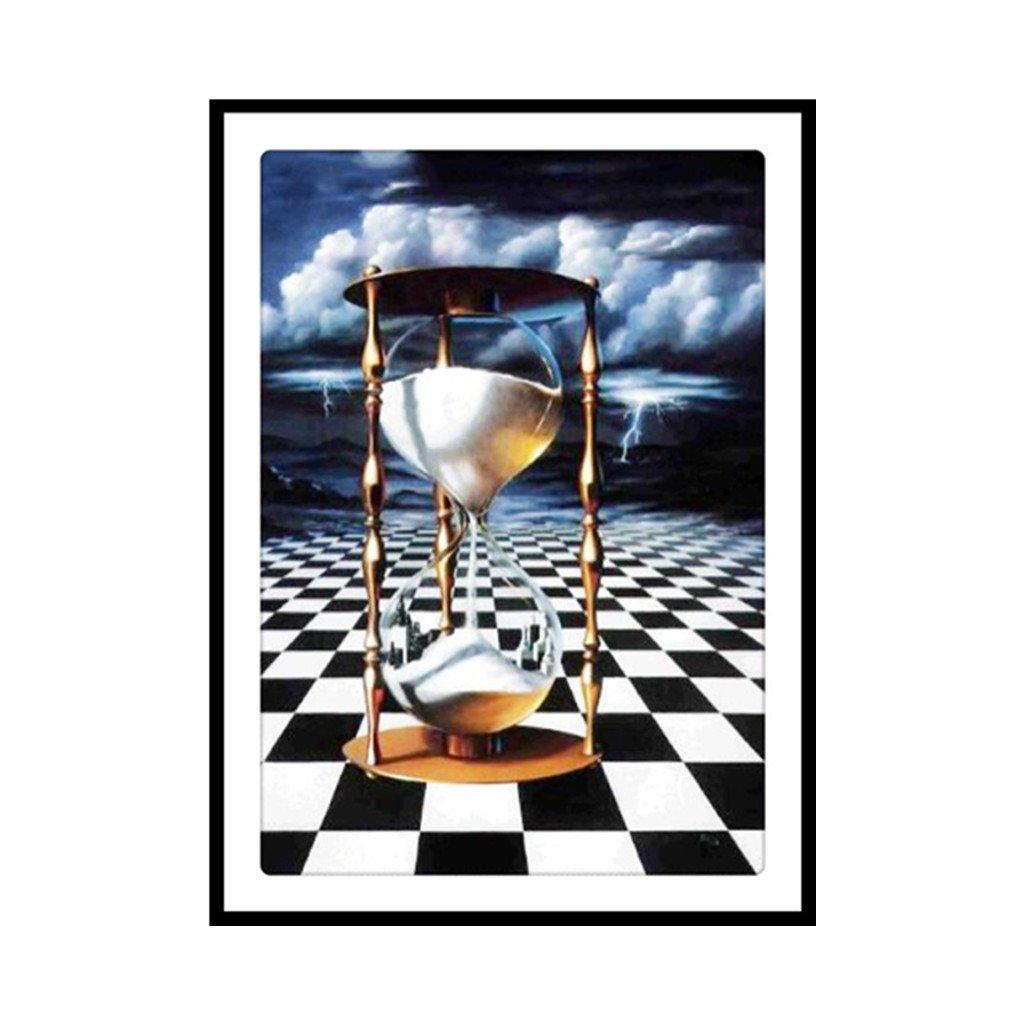 cuTEQ砂時計5dダイヤモンド刺繍絵画DIYハンドクラフトペイントクロスステッチホームオフィス装飾アートギフト B07FXYX4H9