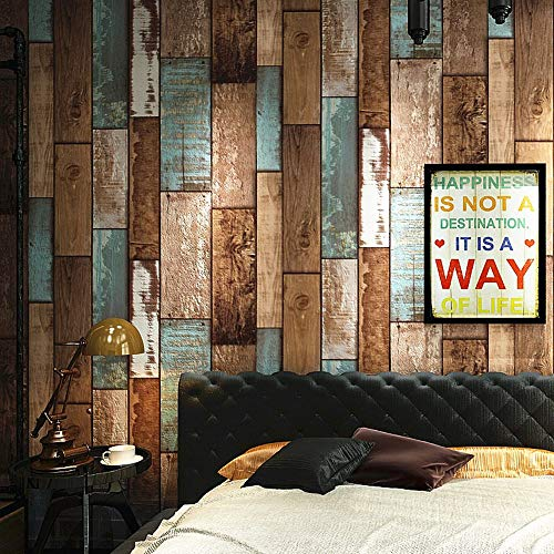Wood Contact Paper Self Adhesive Removable Wood Peel and Stick Wallpaper Decorative Wall Covering Blue/Brown Wood Panel Interior Film Leave No Trace Surfaces Easy to Clean(17.71 In X 118 In ) Brown Wall Doctor Wallpaper