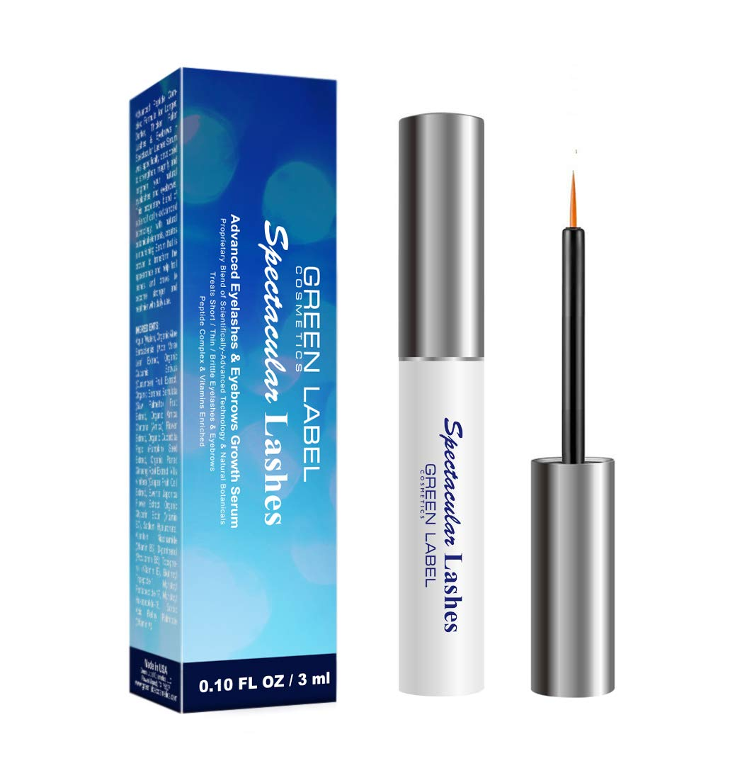 Eyelashes & Eyebrows Growth Products. Eyelash Growth Serum & Eyebrow Enhancer: ''Spectacular Lashes''. Green Label Cosmetics