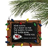NFL Kansas City Chiefs Resin Chalkboard Sign Ornament, Red, One Size