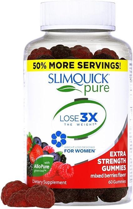Amazon Com Slimquick Pure Extra Strength Gummies Appetite