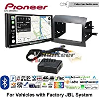 Volunteer Audio Pioneer AVIC-W8400NEX Double Din Radio Install Kit with Navigation, Apple CarPlay and Android Auto Fits 2004-2010 Toyota Sienna with Amplified System