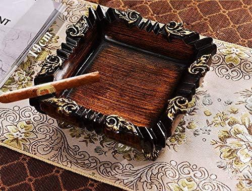 葉巻灰皿, レトロなヨーロッパの灰皿クリエイティブホームデコレーションアメリカンスタイルのリビングルームの新しい中国スタイルのコーヒーテーブルテーブルデコレーション19X8cm