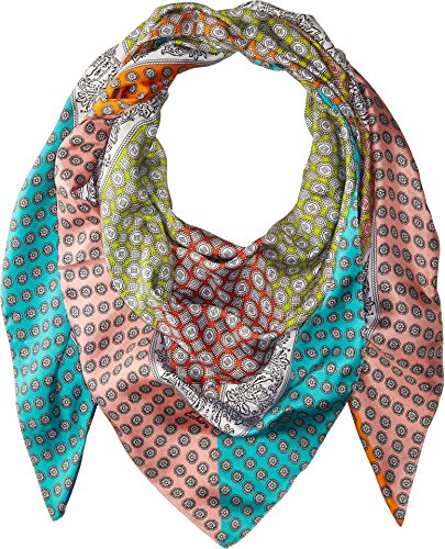 Echo Design Women's Harbour Foulard Silk Square Scarf Multi One Size by Echo Design