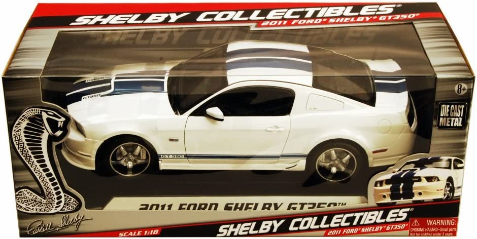 SC351 SHELBY COLLECTIBLES Ford Mustang Shelby GT350 2011 White 1//18