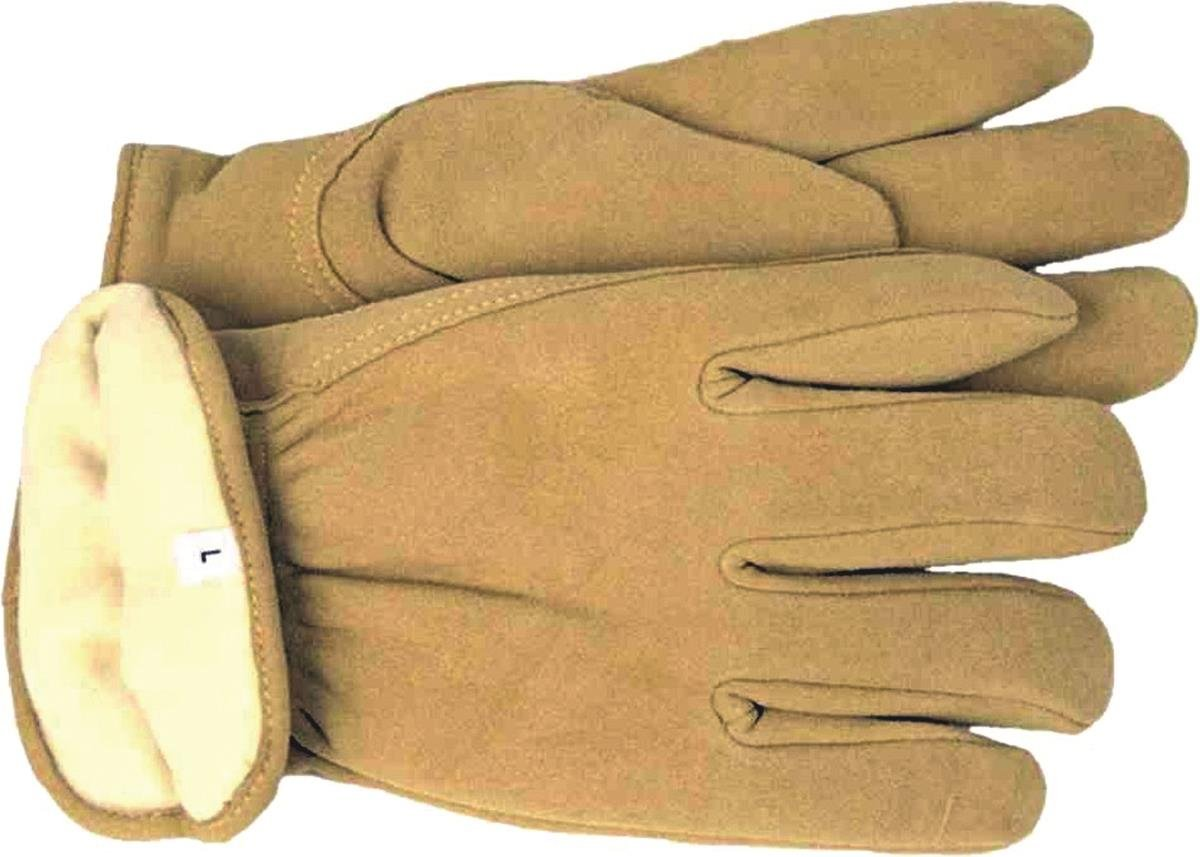 BOSS MANUFACTURING 7186L/4186L 040168 Thermal Insulated Split Deerskin Driver Glove, Large, Yellow