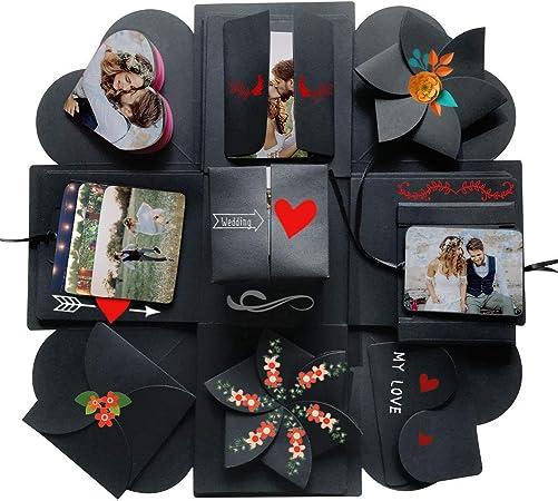 WXGY Caja Sorpresa explosión, álbum de Fotos para Manualidades, álbum de Recortes, Boda, cumpleaños, etc.: Amazon.es: Hogar