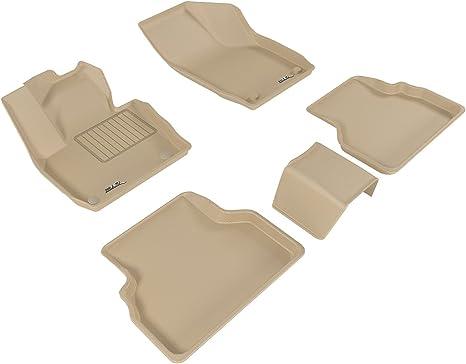 Tan Kagu Rubber 3D MAXpider Front Row Custom Fit All-Weather Floor Mat for Select Audi Q3 Models