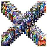 PETON 100 Cards TCG Style Card Holo EX Full Art! 60 EX Cards, 20 Mega EX Cards, 20 GX Cards 1 Energy Card