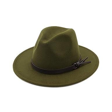 20d05fa82 Thinkin Wool Felt Flat Wide Brim British Jazz Hat Unisex Men Women ...