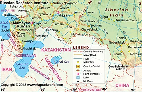 Sochi Russia Cartina.Amazon Com Russia Map 36 W X 23 37 H Office Products