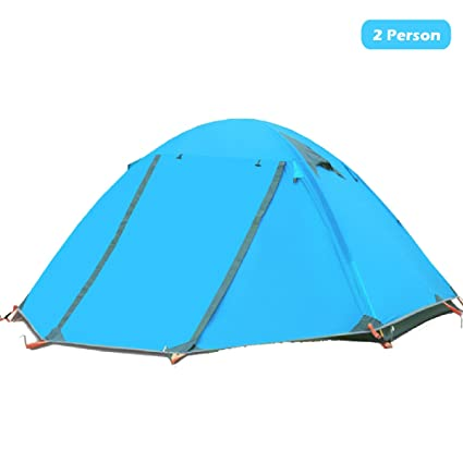 Azarxis 1 2 Person 3 4 Season Backpacking Tents Easy Set Up Waterproof Lightweight Professional Double Layer Aluminum Rod Tent for C&ing Outdoor Hiking ...  sc 1 st  Amazon.com & Amazon.com : Azarxis 1 2 Person 3 4 Season Backpacking Tents Easy ...