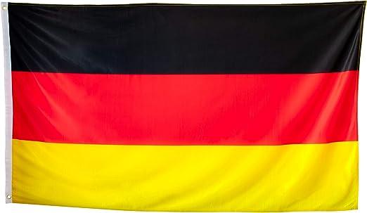 esvendio Bandera de Alemania Grande de Tela Fuerte, Bandera Alemana para Exterior 150x90 cm: Amazon.es: Jardín