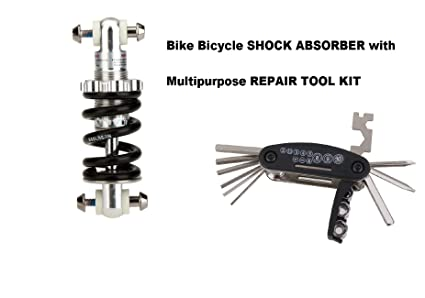Gubbarey Mountain Bike Bicycle Electric Scooter Shock Absorber Bumper  Spring Components 750Lbs/ in Rear Suspension MTB Shocks with Multi-Purpose