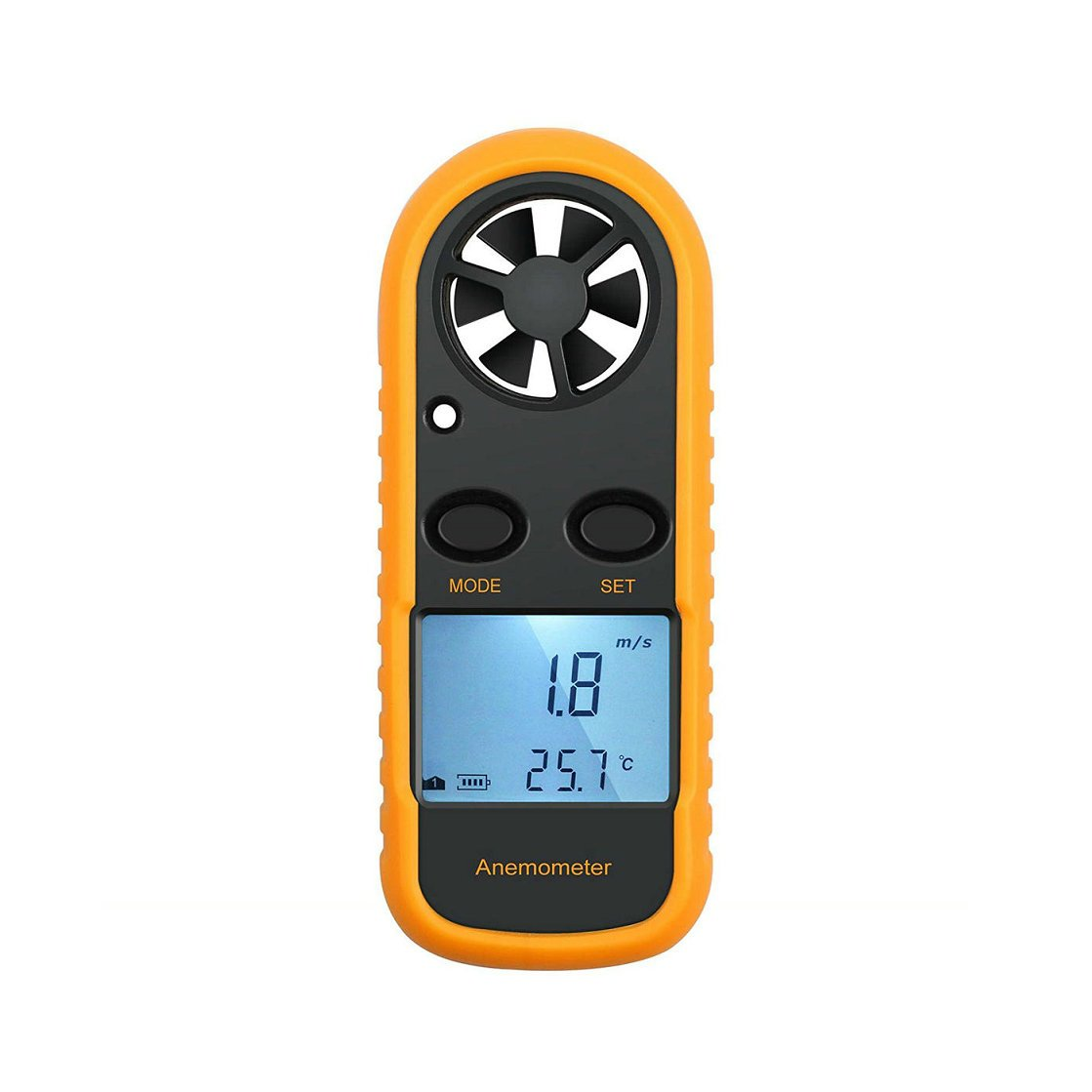 GuDoQi Digital Anemometer Handheld Wind Speed Meter with Backlight for Measuring Temperature Wind Chill Air Flow Velocity
