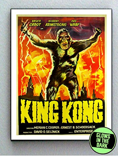 1933 original King Kong Glow In The Dark Framed Cool Art Movie Mini Poster
