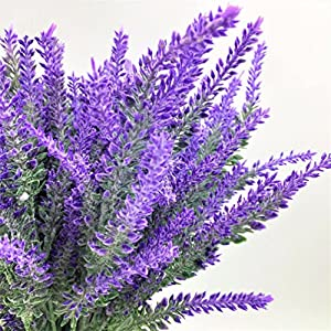 1pcs lavender flower silk artificial grain decorative Simulation of aquatic plants 6
