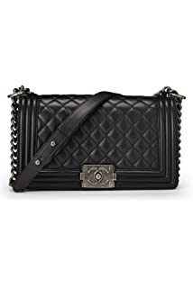 35047b6d0179 CHANEL Black Quilted Satin Paris Limited Flap Bag (Pre-Owned ...
