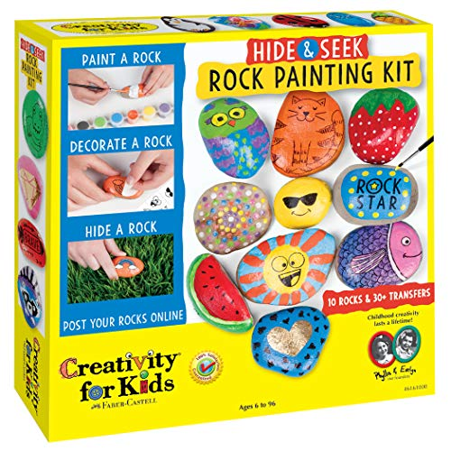 Creativity for Kids Hide and Seek Rock Painting