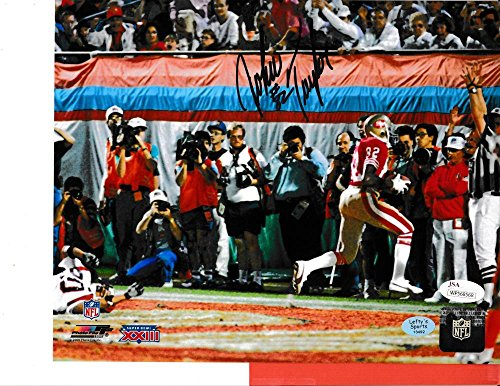 (John Taylor SF 49ers Autographed (SB XXIII) 8x10 photo - In Store Signing JSA Auth.)