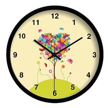 Amazon.com: Ysayc Wall Clock Round pastoral Wall Clock Living Room ...
