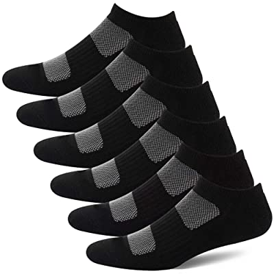 BERING Women's Athletic Low Ankle Cushion Running Socks (6 Pairs): Clothing
