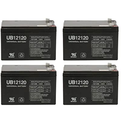 Universal Power Group 12V 12Ah Replacement Battery for Challenger X Scooter Model #J750-4 Pack : Sports & Outdoors
