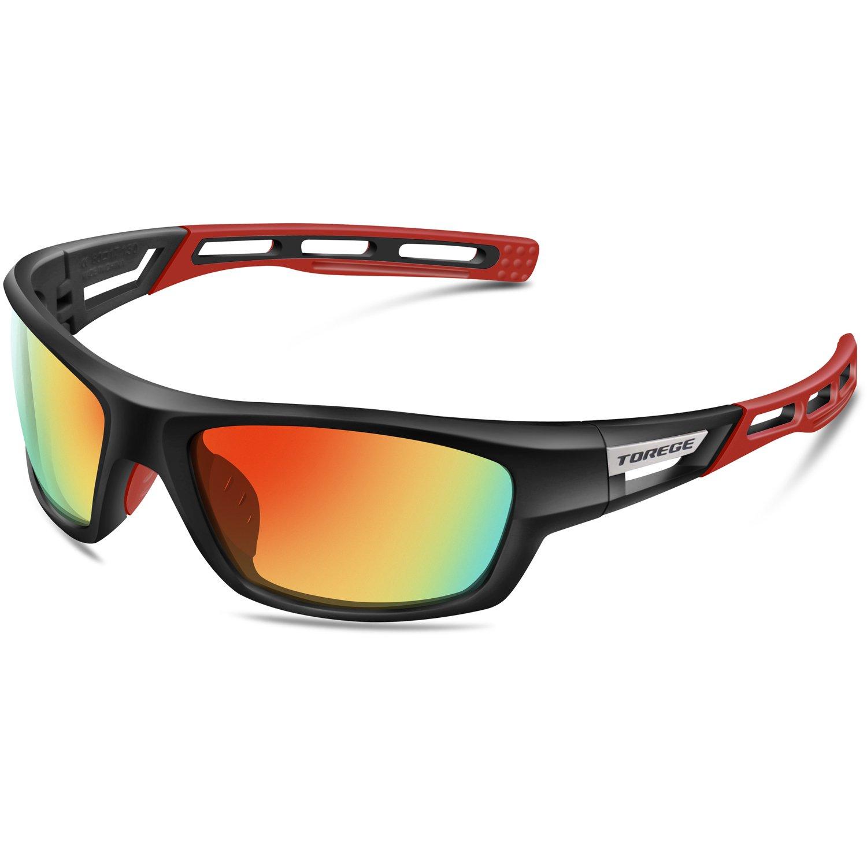 Gafas de sol unisex, polarizadas, ideales para practicar deportes como golf, ciclismo, pesca, y más, marca Torege (TR007)