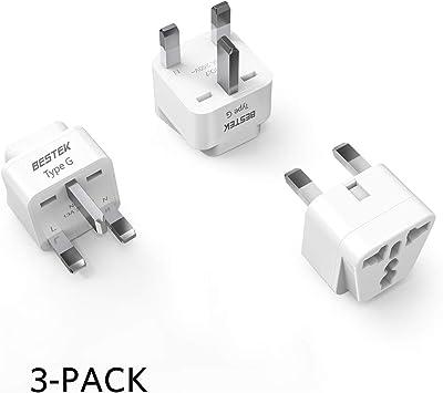 Universal US//EU//AU to United Kingdom Ireland HK SG AC Travel Power Adapter Plug
