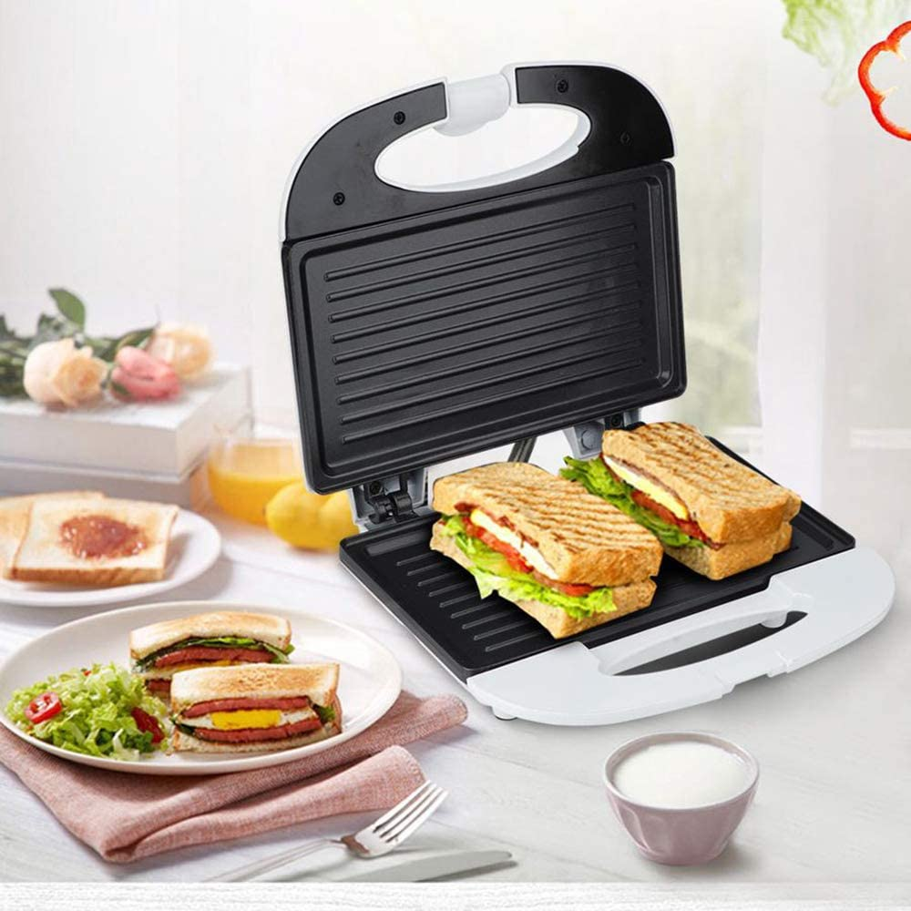 Toaster Waffle Maker Non-Stick Removable Plates Red And Green LED Indicator Lights Bakelite Handle & Closing Latch Easy To Use And Clean Mini Waffle Baking Maker 750W 220V 50HZ,Bar plate