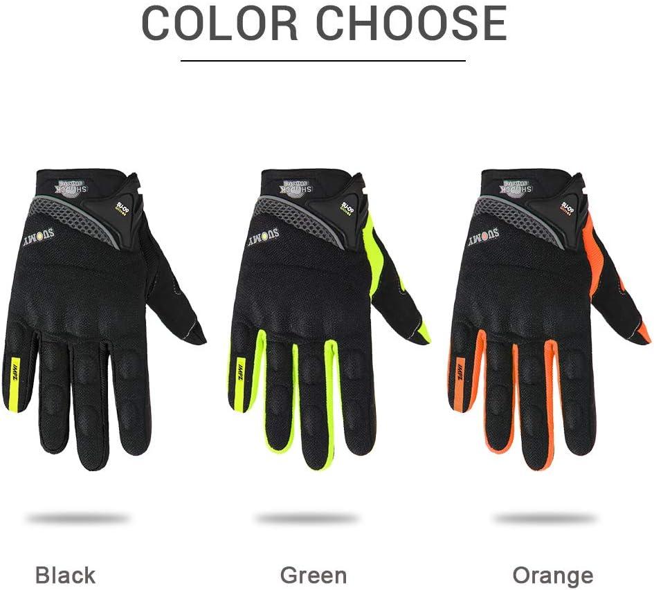 Gants de Plein air Respirants pour Moto Gants de Moto de Motocross de Course ///Bleu XL Berrd Gants de Moto pour Hommes