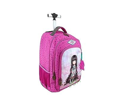 Trolley Mochila para Escuela Santoro gorjuss Rosebud London + Regalo Bolígrafo de Purpurina + Regalo marcapáginas