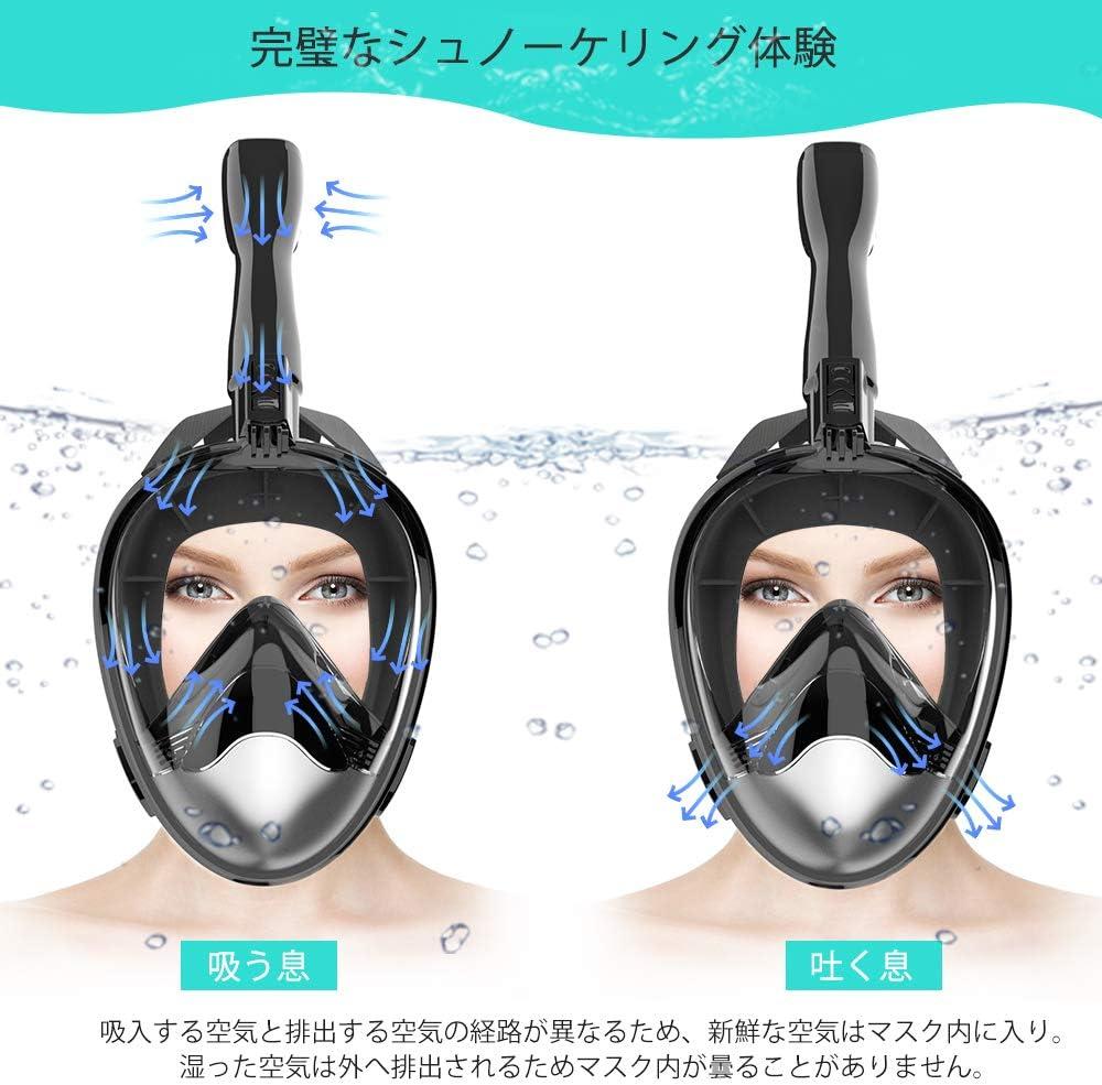 Ollivan 最新シュノーケルマスク(フルフェイス型)