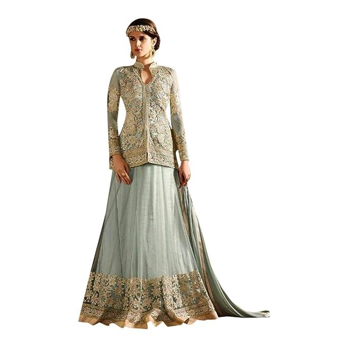 ETHNIC EMPORIUM Festival de Diwali Salwar Kameez Dupatta Vestido de Fiesta Vestido Largo de Seda Jacket
