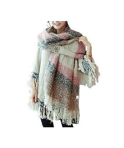 Women Scarf New Thick Sweater Shawl Pure Fringe