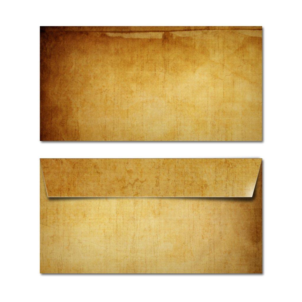 Partycards Sobres | 50 Piezas |Marrón (Marrón Beige)|Formato DIN A4 (21,0 x 29,7 cm)|Gramaje 90 g/m² |impresión a Doble Cara, Adecuada para Todas Las ...