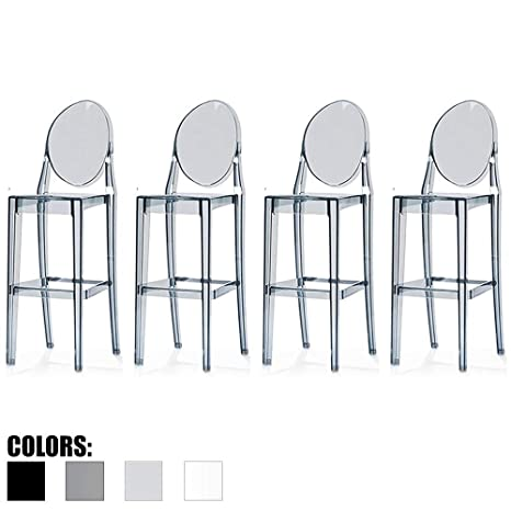 Stupendous Amazon Com 2Xhome Set Of Four 4 Smoke 30 Seat Unemploymentrelief Wooden Chair Designs For Living Room Unemploymentrelieforg