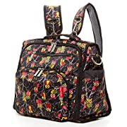 Diaper Bag Backpack For Mom Convertible Bags for Girls Multi-functional Mommy Backpacks Cute Owl Print Hand free Purse Organizer Long Crossbody Straps Shoulder For Travel w Many Pockets for Bottles