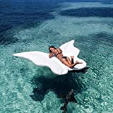Giant Butterfly Floating Lounge Island for Swimming Pools Inflatable Float Toy Floatie Lounge Toy (White)