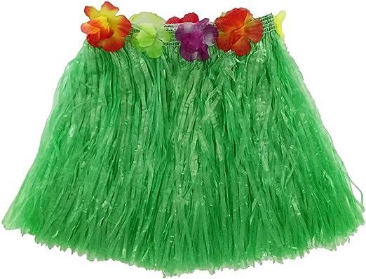 STOBOK 6 Piezas de Falda de Baile de Hierba Hawaiana de 40 cm para ...