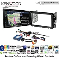 Volunteer Audio Kenwood Excelon DNX694S Double Din Radio Install Kit with GPS Navigation System Android Auto Apple CarPlay Fits 2000-2005 Saturn S/L Series