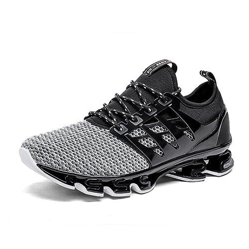 GOMNEAR Zapatillas para Correr para Hombre Zapatillas Ligeras Transpirables Antideslizantes con Cordones Deportivas para Correr para Caminar: Amazon.es: ...