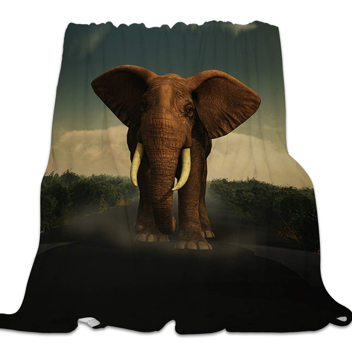 Elephant2035lyag3765 49x59inch=125x150cm YEHO Art Gallery Flannel Fleece Bed Blanket Super Soft Cozy ThrowBlankets for Kids Girls Boys,Lightweight Blankets for Bed Sofa Couch Chair Day Nap,Merry Christmas Universe Pattern,49x59inch