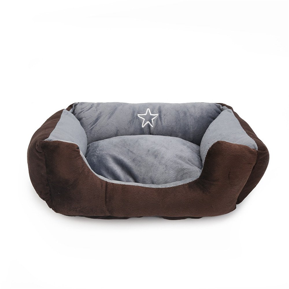 Brown Onesize Brown Onesize Pet Supplies Pet Nest Teddy Dog Huose Small and Medium Dog Cat Kennel Small Animal Beds (color   Brown, Size   OneSize)