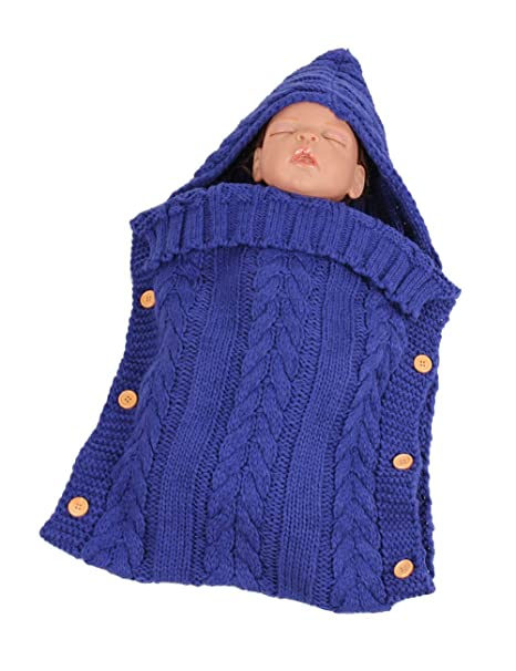 Zhhlaixing Bebé Recién Nacido Manta de Punto para Dormir Saco - Cálida Crochet de Invierno Swaddle Wrap Saco de Paseo con Capucha 0-12 Mes: Amazon.es: Ropa ...