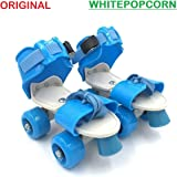 WHITE POPCORN Roller Adjustable Inline Skating Shoes for Kids Age Group 4-12 Years (Multicolour)