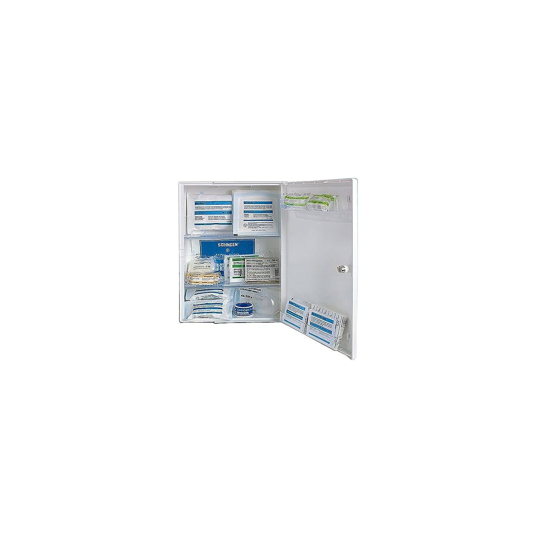 SÖHNGEN Verbandschrank nach DIN 13157 - eintürig, weiß, HxBxT 429 x 315 x 150 mm - mit Inhalt - Apotheke Apotheken Arzneischrank Arzneischränke Betriebssicherheit Erste-Hilfe Erste-Hilfe-Schrank
