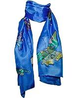 Pañuelo de 100% Seda Pintado a Mano - Mariposa con Varios Colores de Fondo