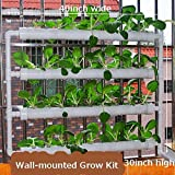 Wall-mounted Hydroponic Grow Kit 36 Plant Sites 4 Pipes Garden Tool Vegetable